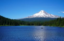 At The Base of Mount Hood. Trillium Lake at the base of Mount Hood in Oregon is a must see if your in the area Stock Image