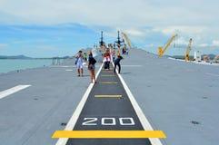 Base navale di Sattahip Fotografia Stock
