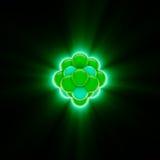 Base nuclear verde que brilla intensamente Fotografía de archivo