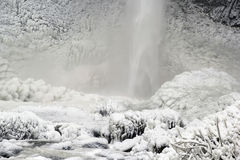 Free Base Of Latourell Falls Frozen In Winter Closeup Royalty Free Stock Image - 35907396