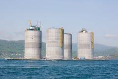 Base oil drilling platform Royalty Free Stock Photo