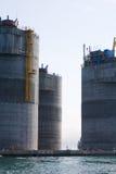 Base of the oil drilling platform Stock Images