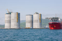 Base oil platform Stock Image