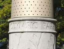 Base of Olympic  Torch in Atlanta's Centennial Park Royalty Free Stock Photo