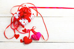 Base per il giorno del ` s del biglietto di S. Valentino di congratulazioni Fotografia Stock Libera da Diritti