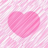 Base per Valentine Card con cuore, vettore Fotografie Stock