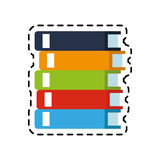100 BASE. Pile of books icon image vector illustration design Royalty Free Stock Photo