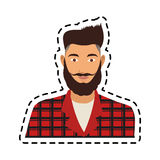 100 BASE. Portrait handsome young man icon image vector illustration design Royalty Free Stock Image