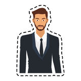 100 BASE. Portrait handsome young man icon image vector illustration design Stock Photos