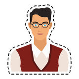 100 BASE. Portrait handsome young man icon image vector illustration design Royalty Free Stock Photos