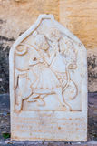 Base relief of a Rajput king Royalty Free Stock Image