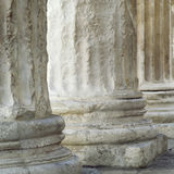 Base of Roman columns Royalty Free Stock Photos