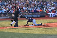 Base runner sliding Royalty Free Stock Photography