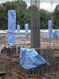 Base sale de construction concrète de nuage de ciment de bâtiment de constructeur de panneau de bloc d'architecture de site de pi image libre de droits