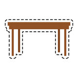 100 BASE. Simple wooden table icon image vector illustration design Stock Photos