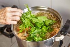 Base soup Stock Photos