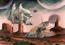 Base spaziale straniera illustrazione di stock