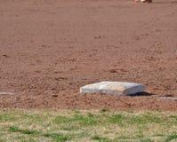 Base sporca sull'infield Immagine Stock