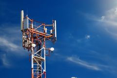 Base station network operator. 5G. 4G, 3G mobile technologies. royalty free stock photos