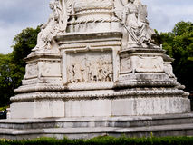 Base of Statue of Marquis de Pombal in the Praco do Imperio Gardens Lisbon Portugal Royalty Free Stock Photography