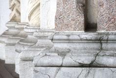 Base stone columns in perspective Royalty Free Stock Image