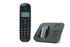 base svart sladdlös telefonlurtelefonenhet Royaltyfria Bilder