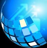 Base tecnica astratta blu Fotografia Stock