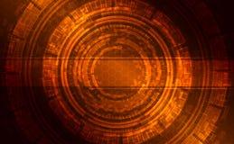Base tecnica brillante scura astratta Fotografia Stock