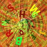 Base tecnica di concetto (viola, verde) Fotografia Stock