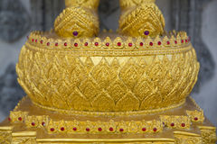 Base thaïlandaise de Bouddha d'art Photos libres de droits