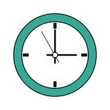 100 BASE. Wall clock icon image vector illustration design Stock Photos