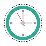 100 BASE. Wall clock icon image vector illustration design Royalty Free Stock Photography