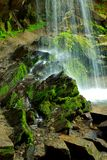 Base of a Waterfall Royalty Free Stock Photos