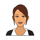 100 BASE. Young pretty woman with brown hair icon image vector illustration design Royalty Free Stock Image