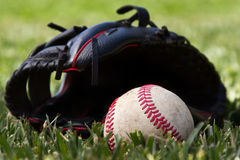 Basebal and glove Royalty Free Stock Image