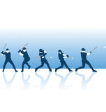 basebal swing royaltyfri illustrationer
