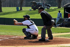 Baseball – batter & plate umpire Royalty Free Stock Image