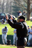 Baseball – plate umpire. Plate umpire photographed during baseball game Stock Image