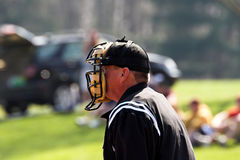 Baseball – plate umpire. Plate umpire photographed during baseball game Stock Photography