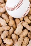 Baseball: Över huvudet sikt av bollen och muttrar Fotografering för Bildbyråer