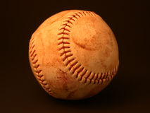 Baseball. Scuffed, well-worn and used baseball - take me out to the ballgame royalty free stock photos