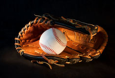 Baseball (1). Baseball glove and ball Stock Image