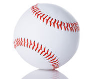 Baseball. Regulation white baseball with red stitching Stock Photo