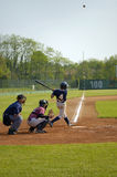 Baseball. Player hitting ball Royalty Free Stock Photos