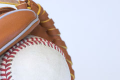 Baseball. And glove isolated against a white background royalty free stock photo