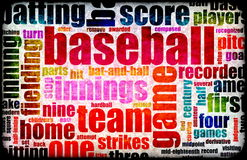 Baseball. Game as a Sport Grunge Background Royalty Free Stock Image