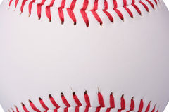 Baseball. A white baseball with red stitching. Add your text to the ball Royalty Free Stock Photo