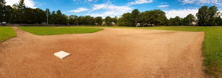 Baseball. Panoramic view of a baseball field Stock Photos