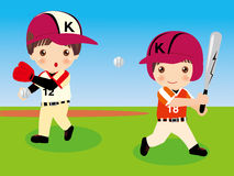 Baseball. Vector illustration of  baseball  boys Stock Image