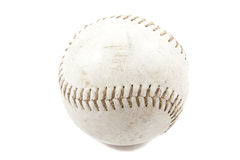 Baseball. Used baseball isolated on a white background Stock Photo